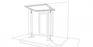 CAD drawing of the Entrance Canopy